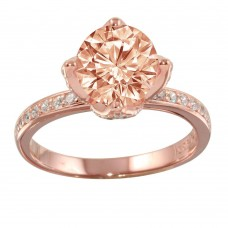 Wholesale Sterling Silver 925 Rose Gold Plated CZ Ring - STR01099