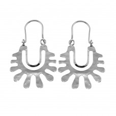 Wholesale Sterling Silver 925 Rhodium Plated Dangling Splatter Earrings - TRE00016