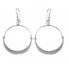 Wholesale Sterling Silver 925 Dangling Bendable Hoop Earrings - TRE00017