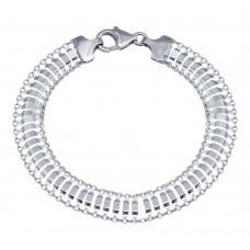 Wholesale 925 Sterling Silver Delicate Flexible Bracelet  - VGB20