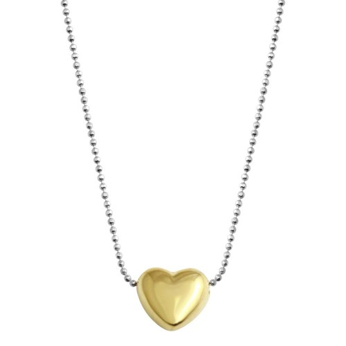 Wholesale 925 Sterling Silver Gold Plated Sliding Heart - VGC17GP