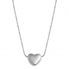 Wholesale 925 Sterling Silver Rhodium Plated Sliding Heart - VGC17RH