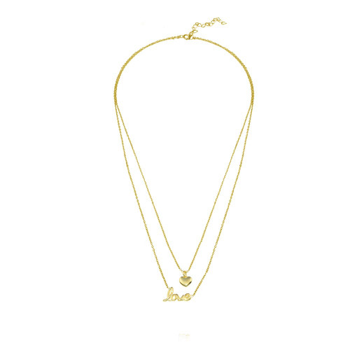 Wholesale 925 Sterling Silver Gold Plated Heart Love - VGC18GP