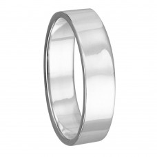 Silver Plain Wedding Band Flat Ring - RING02-2MM