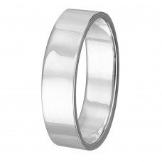 Silver Plain Wedding Band Flat Ring - RING02-3MM