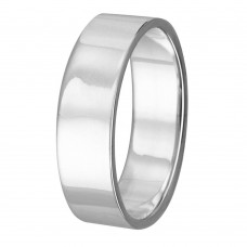 Silver Plain Wedding Band Flat Ring - RING02-5MM