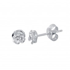 Wholesale Sterling Silver 925 Rhodium Plated flower Stud Earrings - ECE00057RH