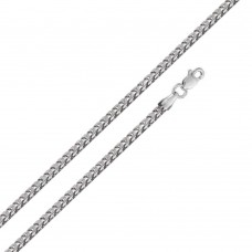 Wholesale Sterling Silver 925 Rhodium Plated Hollow Round Franco Chain 3.5mm - CHHW121 RH