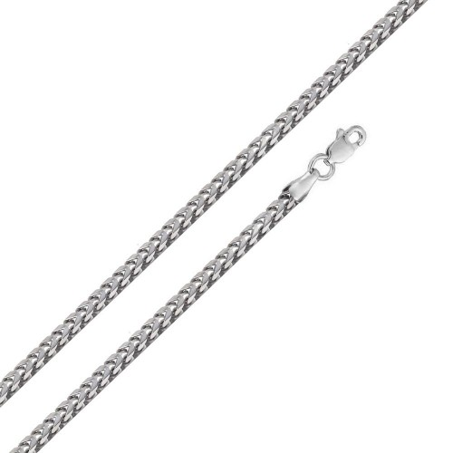 Wholesale Sterling Silver 925 Rhodium Plated Hollow Round Franco Chain 4.3mm - CHHW122 RH