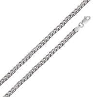 Wholesale Sterling Silver 925 Rhodium Plated Hollow Round Franco Chain 5.3mm - CHHW123 RH