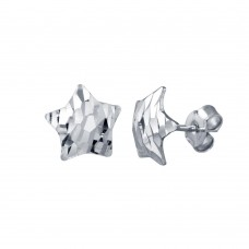 Wholesale Sterling Silver 925 Rhodium Plated DC Star Stud Earrings - ECE00061RH