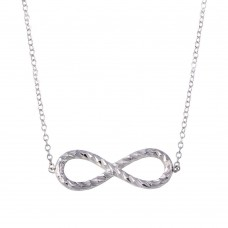 Wholesale Sterling Silver 925 Rhodium Plated Rope Infinity Necklaces - STP01735