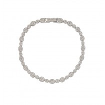 Wholesale Silver CZ Bracelets .925 Ladies Sterling Jewelry gmb00006