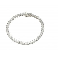 Wholesale Silver CZ Bracelets .925 Ladies Sterling Jewelry gmb00008
