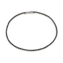 Wholesale Silver CZ Bracelets .925 Ladies Sterling Jewelry gmb00009blk